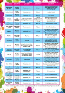 Larger Timetable